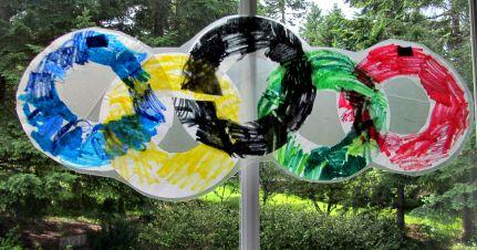 easy olympic rings suncatcher craft for kids