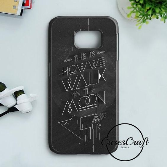 Walk On The Moon Typography Samsung Galaxy S7 Edge | casescraft
