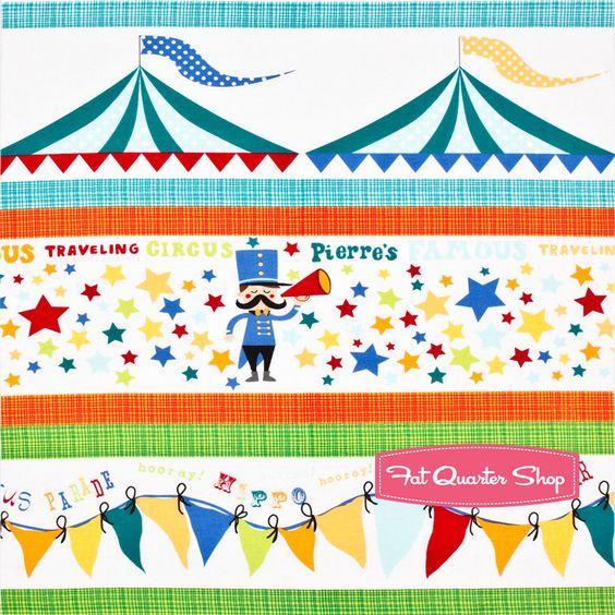 Pierre's Circus Multi Circus Parade Border Yardage SKU# DC5712-MULT-D - Fat Quarter Shop