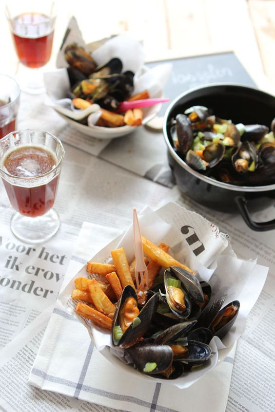 ... food and Culture: Mussels with Belgian fries for Food Revolution day