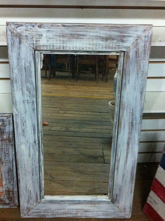 Barn Wood Mirror Rustic Home Decor: $55 Rustic Restored Barn Wood Mirror