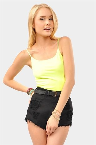 Neon Yellow Tank Top-an easy way to incorporate the #neon trend into your wardrobe !! Get 20% off Necessary Clothing. Enter code FESTIVAL20 at checkout !!