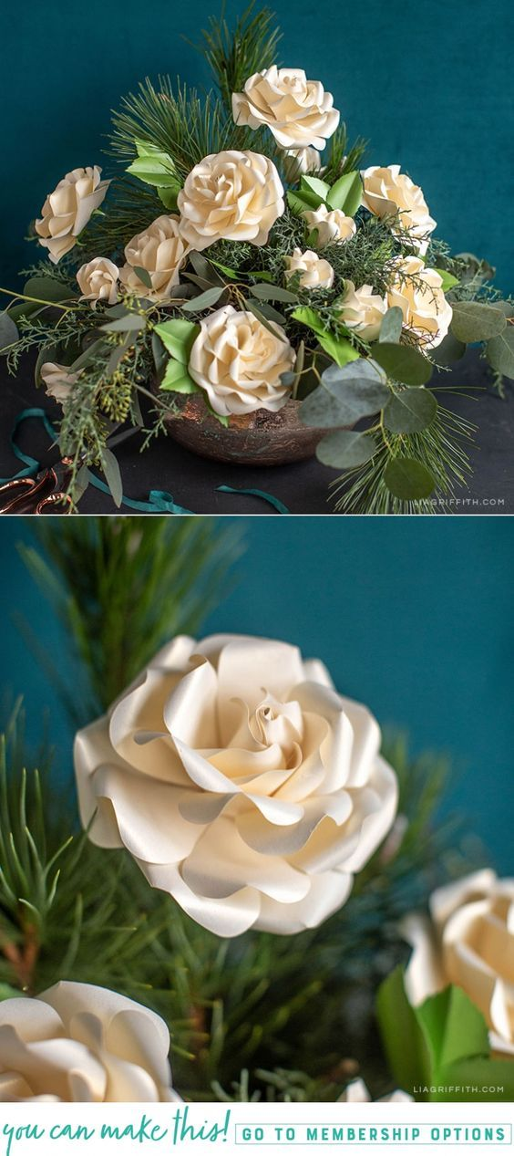 Video Tutorial Frosted Paper Ecuadorian Roses Paper Flowers
