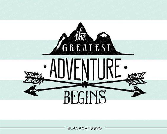 La plus grande aventure commence fichier SVG par BlackCatsSVG