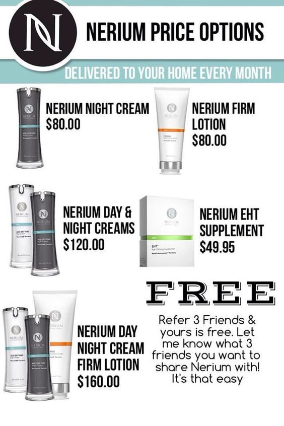 Nerium is proud of our culture of LOVING, CARING, and SHARING, which lets each customer and brand partner have equal opportunity to receive their monthly products for free!! It's our way to say thank you for sharing your real results with friends and family to refer 3 other monthly customers!!