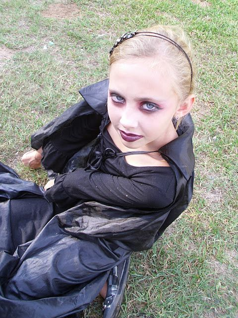 My Miranda is headed to a costume party tonight.  Isn't she the sweetest vampire you have ever seen?