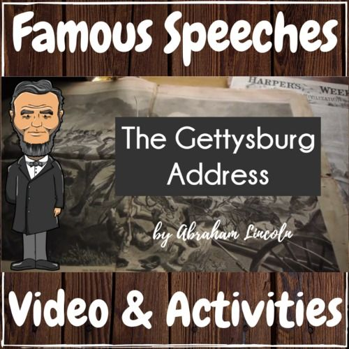 Famous Speeches Abraham Lincoln The Gettysburg Address Video