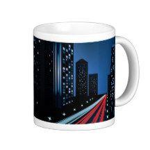 Night City Road Coffee Mug