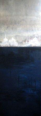 Lagune 2011 acrylique sur toile 120x 40
