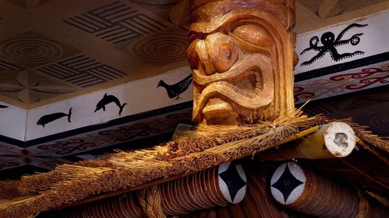 Notice the design touches that add to the island décor, including wood-carved tiki totems that support the thatched roof above our bar. While sitting at the bar, you can enjoy our flat screen TVs and watch your favorite sporting event.