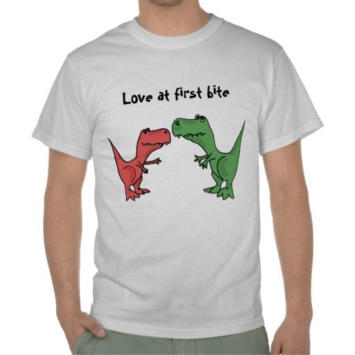 Love at First Bite T-Rex Dinosaur Shirt #dinosaurs #love #trext #shirts #funny #zazzle #petspower