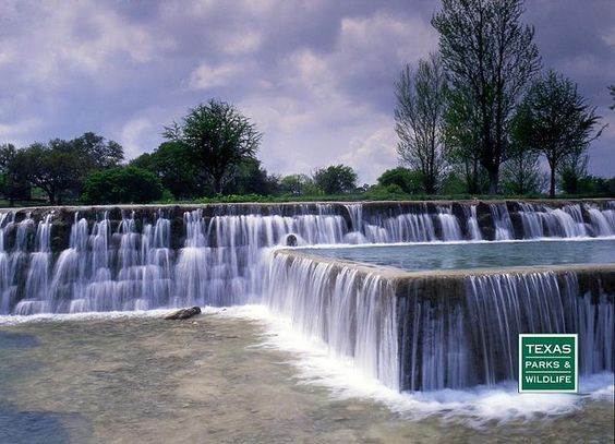Play in the falls at Blanco State Park in central Texas or rent a canoe to paddle along the river.