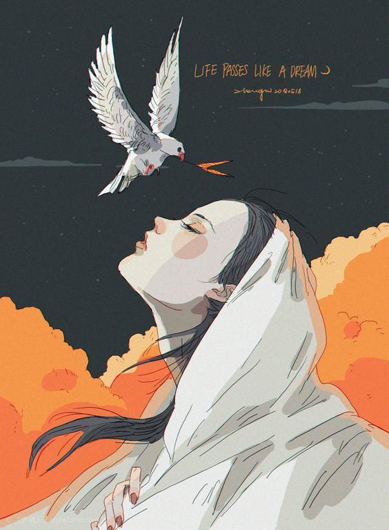 万物-这组插画作品来自画师@张惜Zhangxi|张惜|插画|画师_新浪网