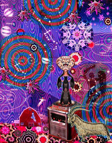 LARRY CARLSON, Goat Witch, digital chromogenic print, 24x22in., 2009. | Flickr - Photo Sharing!