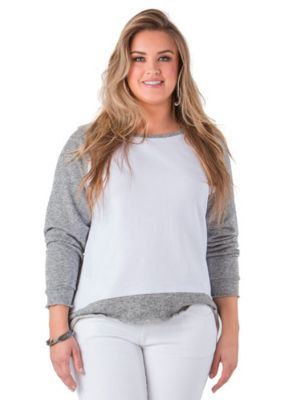 Standards and Practices  Plus Size Nessa Raglan Sleeve Sweatshirt