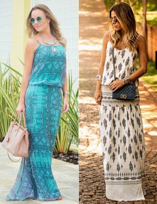 vestidos longos de verão: