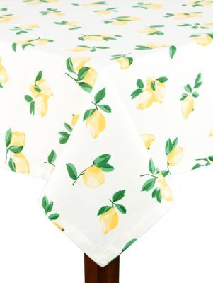 make lemonade tablecloth - Kate Spade New York