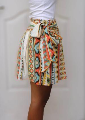 luv! tribal printed skirt.