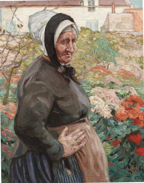 An image of Grand mère by Hilda Rix Nicholas: