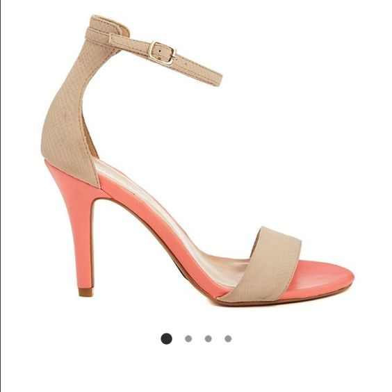 New Look Nude & Coral heeled sandals | D, ASOS and Shoes heels