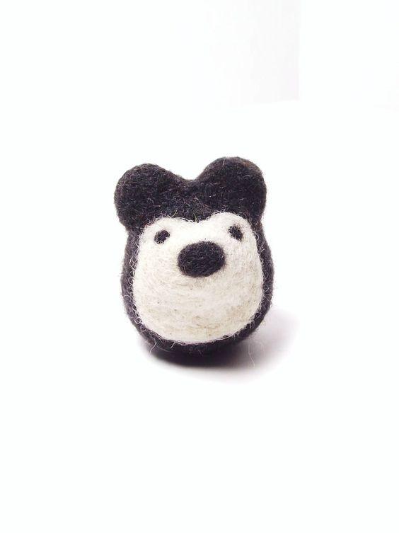BRIKA.com | Felt Black Bear | $34