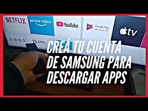 Como Descargar O Instalar Aplicaciones En Tu Smart Tv 2020 Crear Cuenta Samsung Youtube Smart Tv Samsung Tv