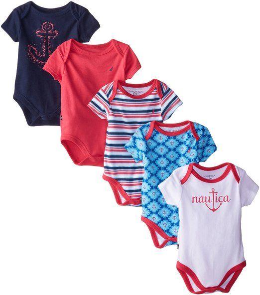 Amazon.com: Nautica Baby Girls' 5 Pack Bodysuits: Clothing