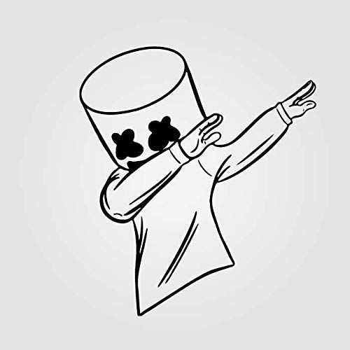 Amazon Com Marshmello Dab Vinyl Sticker Sizes 4 6 8 10