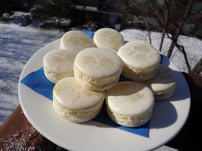 white gold macarons