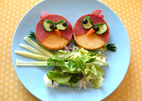 angry birds on a plate