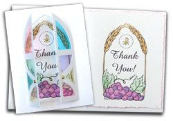 First Communion Card Kit - Thank You's