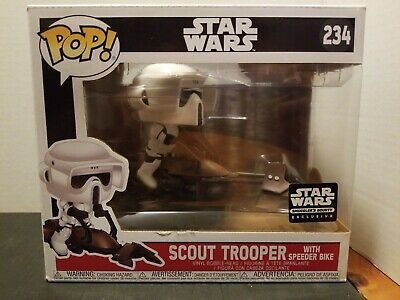 Star Wars Scout Trooper with Speeder Bike #234 Smugglers Bounty FUNKO POP