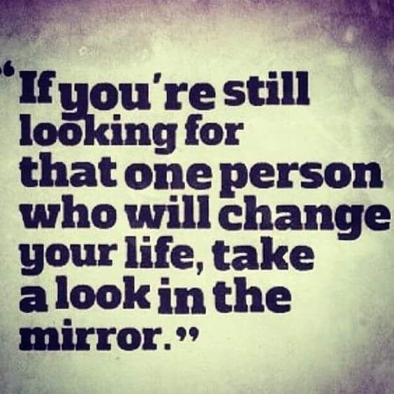 Positivity Can Changeyour Life: Positive Monday: Take A Look In The Mirror And Make That