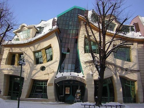 Crooked house designed by frank gehry in sopot gdansk Polish house plans
