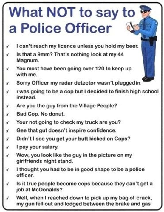 Police Officers...Looking for advice!?