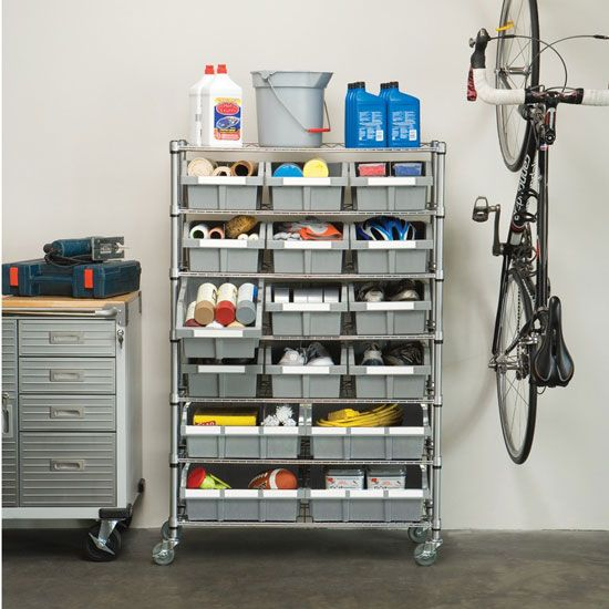 Industrial Garage Storage : Organize the parts in your office garage or worksop with
