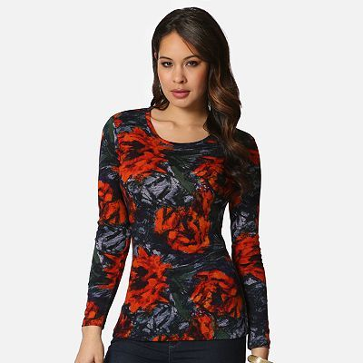 daisy fuentes Floral Tee at Kohl's