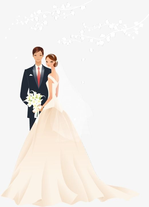 Vector Bride And Groom Wedding Bride Clipart Wedding Marry Png Transparent Clipart Image And Psd File For Free Download Wedding Illustration Wedding Prints Bride And Groom Cartoon