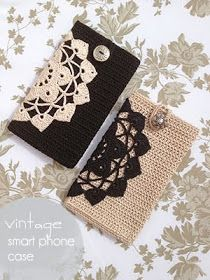 Cool inspiration for a smartphone case.  I love the pattern.