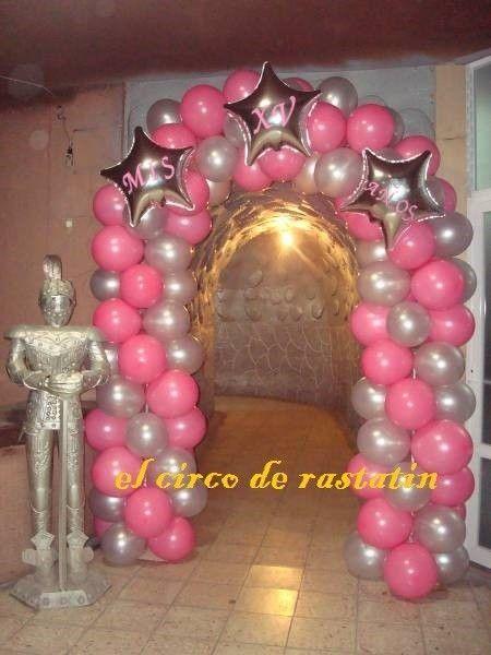 Decoraciones de arcos para 15 a os buscar con google for Decoracion con globos para xv anos