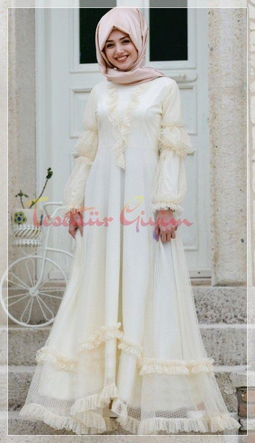 Tesettur Nikah Elbise Sade 2020 Elbise Victorian Elbiseler Elbiseler