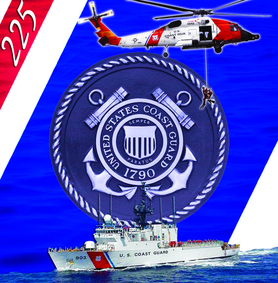 August 4th, 2015 - Today, the US Coast Guard celebrates 225 years of service to our great nation! Semper Paratus! www.BattleThreads.co