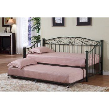 metal twin daybed frame with trundle mattresses picture trundle beds pinterest twin day. Black Bedroom Furniture Sets. Home Design Ideas
