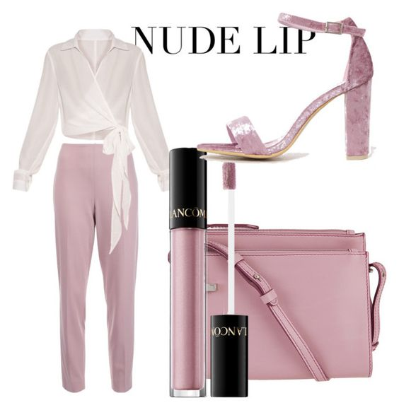 """""""nude perfect"""" by yousrayouyou ❤ liked on Polyvore featuring Ralph Lauren Collection, Lodis and Lancôme"""