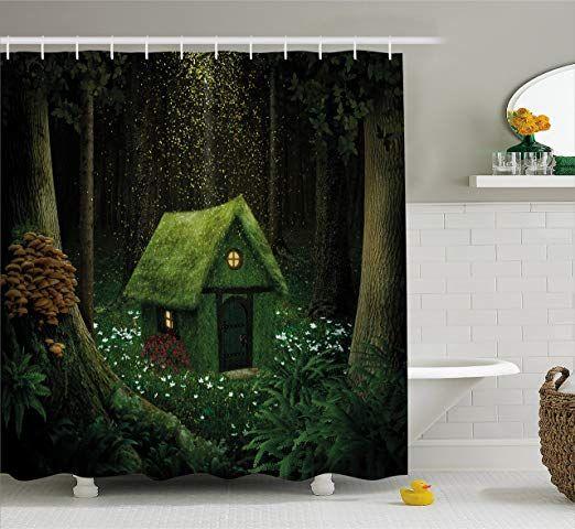 Amazon Com Ambesonne Fantasy Shower Curtain Surreal Little