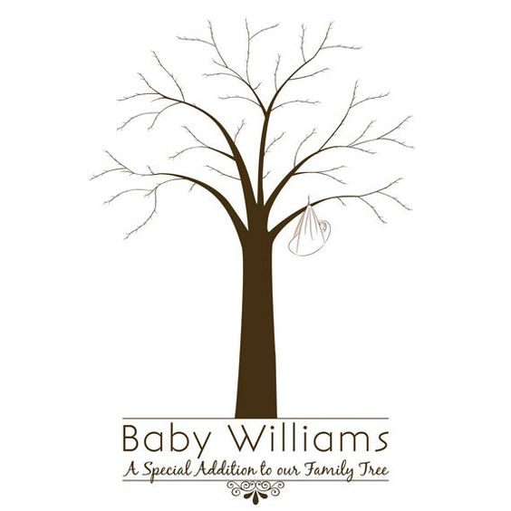 baby shower fingerprint tree trees friends family and fingerprint