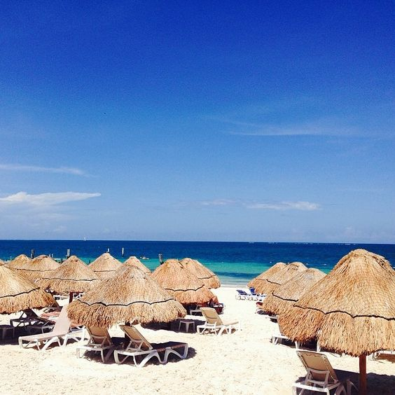 Beach day at Excellence Riviera Cancun... Life is way better at the beach :)
