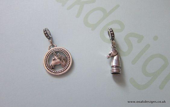 Handmade European Bracelet Charm & Snaffle Bit Bracelet Horse Themed Equestrian by BeadsNBlingsNLeather…
