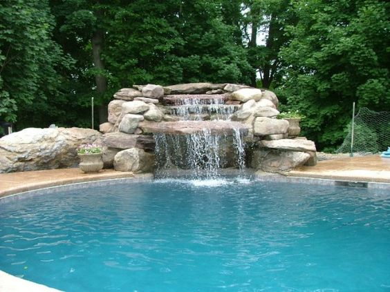 swimming pool waterfalls | features that make your pool design