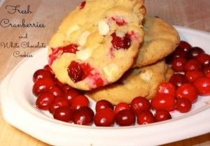 Cranberry and White Chocolate Chip Cookies #cookiesrecipes